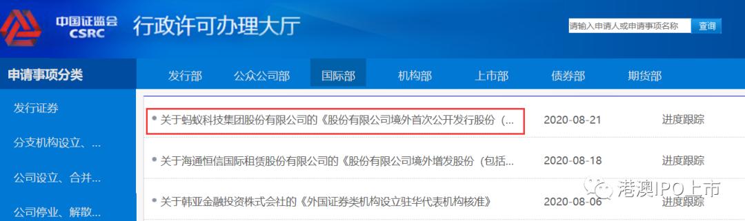 蚂蚁集团,向「中国证监会国际部」递交材料,「A+H」双地上市启动,目标估值2250亿美元估值